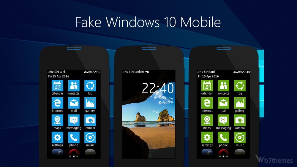 Windows 10 mobile theme asha 311 full touch