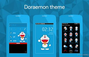Doraemon theme s40 Asha full touch 311 310 309 308 306 305