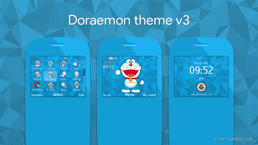 V3 Doraemon theme brings new features on the wallpaper, replacement of ...