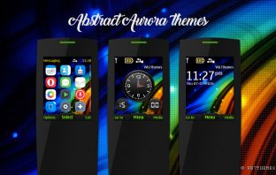 Abstract aurora theme X2-00 2730 2700 5130 X2-02 X2-05 240x320 s406th s40 5th
