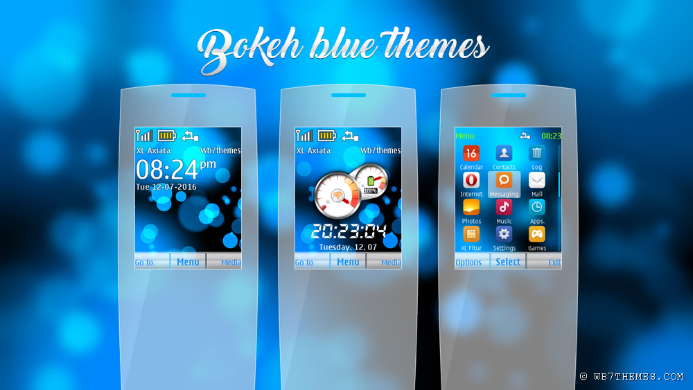 Bokeh blue theme X2-00 240x320
