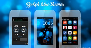 Bokeh blue theme Asha 305 306 Asha full touch 240x400