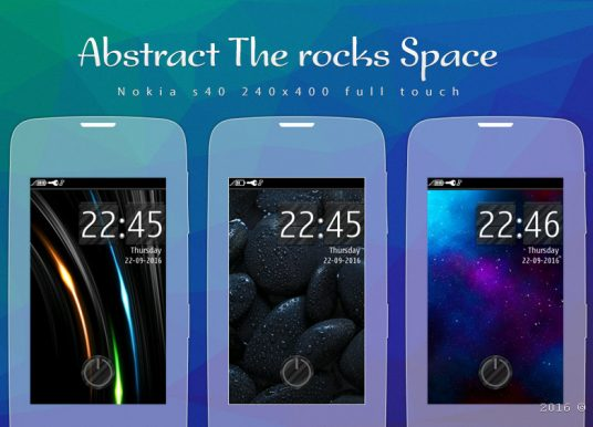 Rocks abstract space theme full touch 240×400