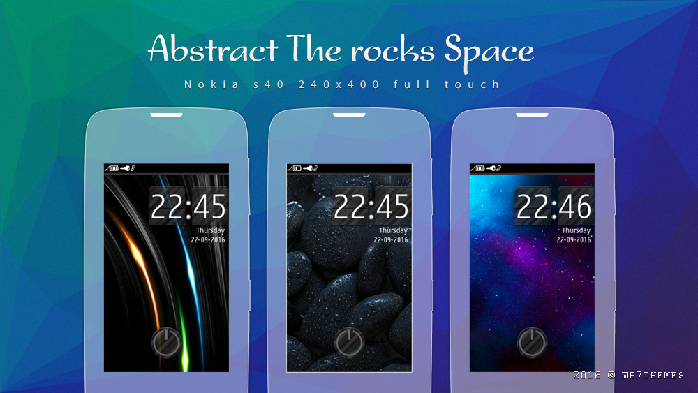 Rocks abstract space theme full touch