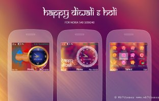 Happy Diwali Holi theme s40 320x240