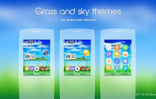 Grass and sky theme X2-00 206 s40 240x320