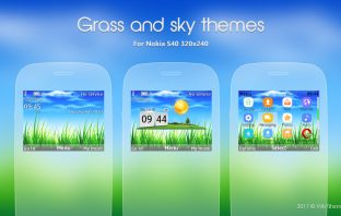 Grass and sky theme asha 302 X2-01 s40