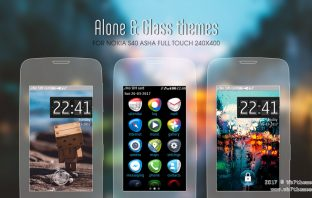 Alone and Glass theme asha 310 309 308 311 306 305 full touch 240x400