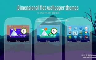 Dimensional flat wallpaper theme X2-01 C3-00 Asha 210 302