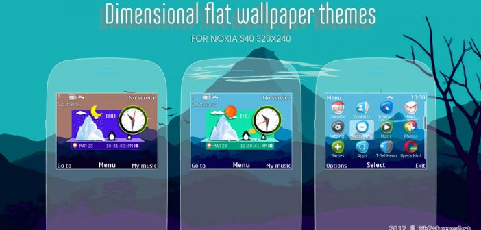 Dimensional flat wallpaper theme X2-01 C3-00 Asha 210 302 320x240 s40