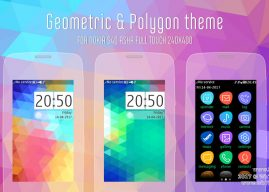 Geometric and polygon theme Asha 311 310 309 full touch