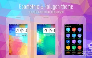 Geometric and polygon theme Asha 311 310 309 308 306 305 full touch