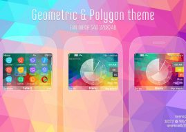 Geometric and polygon theme Asha 302 210 X2-01 s40 320×240