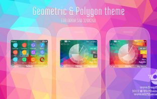 Geometric and polygon theme Asha 302 210 X2-01 s40 320x240 swf flash