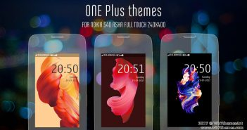 One Plus style theme Asha 311 308 309