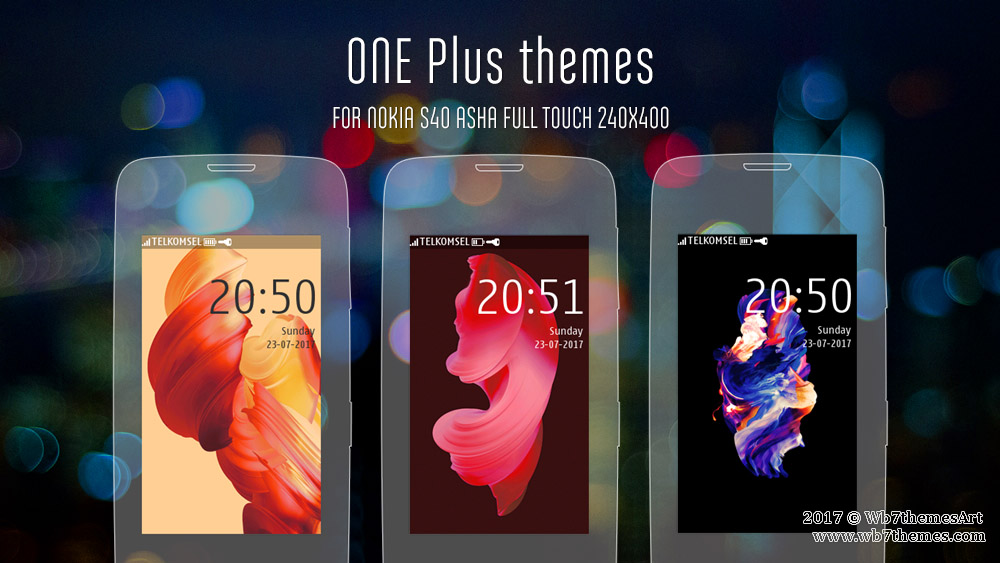 One Plus style theme Asha 311 308 309 310 306 305 full touch