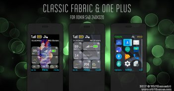 Classic fabric and One plus 5 theme s40 240x320 X2-00 X3-00 Asha 208