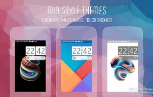 MI9 style theme Asha 311 309 308 310 306 305 full touch