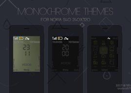 Monochrome theme Nokia 515 301 X2-00 s40 240×320