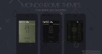 Monochrome theme Nokia 515 301 X2-00