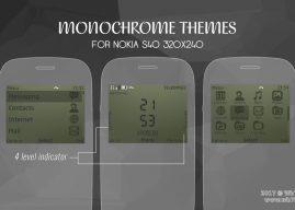 Monochrome theme Asha 302 210 Nokia C3-00 X2-01