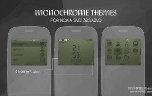 Monochrome theme Asha 302 210 Nokia C3-00