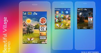 Beautiful village theme X2-00 X3-00 Asha 208 311 s40