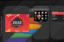 Flyme rosso swf widget theme s40 asha 302 210 X2-01 320x240