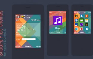 Square flat widget theme for Asha 207 301 515 X2-00 s40 240x320