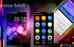 Rainbow bokeh theme s40 Asha 311 310 309 308 306 305 full touch
