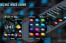 Abstract black cubes swf day night theme X2-00 X2-02 206 207 208 515