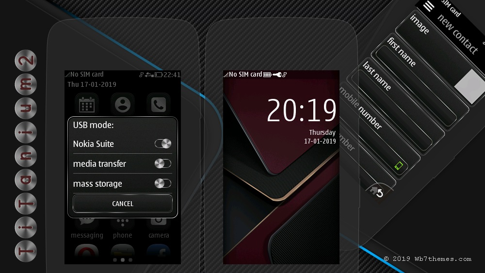 Titanium theme s40 240×400 Asha 311 305 306 308 309 310 full touch