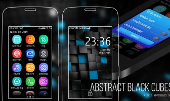Abstract black cubes theme s40 Asha 311 310 309 308 306 305 full touch