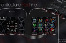 Architecture red line clock swf theme 210 205 302 200 201 X2-01 C3-00