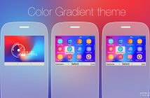 Color gradient with battery and signal indicator swff theme Asha 302 c3-00