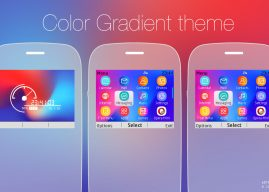 Color gradient with battery and signal indicator theme Asha 302