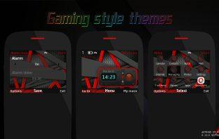 Gaming style swf clock widget theme Asha 302 210 205 X2-01 C3-00