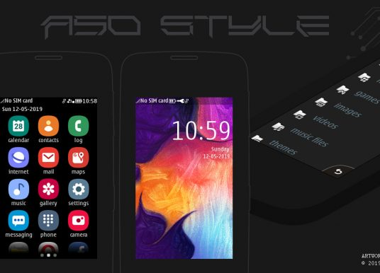 Galaxy A50 style theme Asha full touch 311 310 305