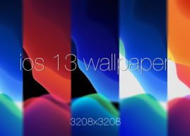 Get the default iOS 13 wallpaper stock 3208×3208 px