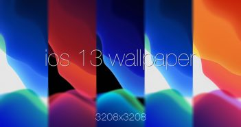 Get the default iOS 13 wallpaper stock 3208x3208 px