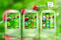 Lady bugs Analog digital clock flash lite theme X2-00 x2-02 6500 classic