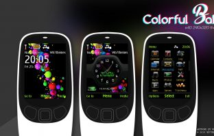 Colorful ball with battery signal swf theme X2-00 6700 6500 2700 X2-02