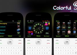 Colorful balls with battery signal indicator theme C3-00 Asha 210
