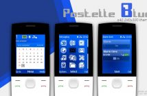 Pastelle blue calendar and clock theme 5310 2730 2700 6300 6500 X2-00