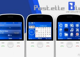 Pastelle blue calendar and clock swf theme X2-01 C3-00 Asha 210