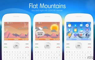 Flat mountains swf day and night animated theme X2-01 C3-00 Asha 302