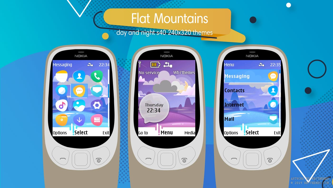 Flat mountains swf day and night animated theme X2-00 X3-00 X2-05 6300