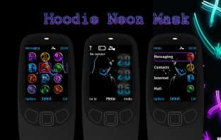 Hoodie neon mask swf digital clock theme X2-00 X3-00 X2-02 206 207 208