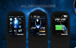 Alienware swf digital clock with battery and signal indicators theme s40 240x320
