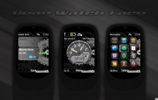 Gear watch face analog clock swf theme X2-00